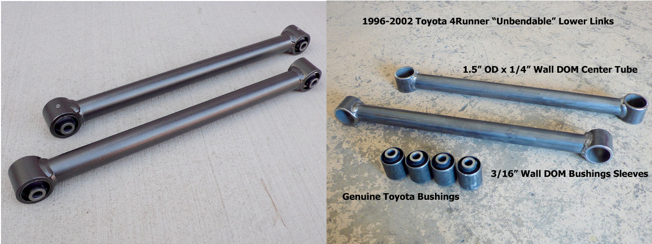 1996-2002 Toyota 4Runner Extremely Heavy Duty Rear Lower Links