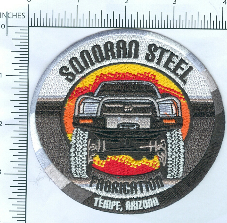 Sonoran Steel Velcro Backed Patch